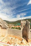 Walls in Mali Ston, Dalmatia, Croatia Stock Photo