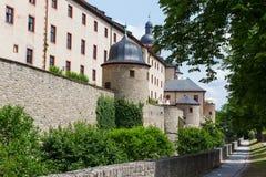 Walls of Marienberg castle. The Marienberg Castle (de: Festung Marienberg) located in Wurzburg, Bavaria Royalty Free Stock Photos