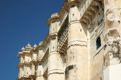 Walls of medieval city palace, in Udaipur,Rajasthan,India Stock Images