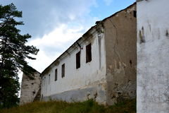 Walls of the medieval fortified church in Ungra, Transylvania Royalty Free Stock Images