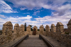 Walls of medieval fortress Royalty Free Stock Photos