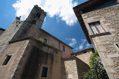 Walls of medieval Girona Stock Photos