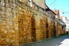 Walls of the medieval town in Cluj-Napoca, Transylvania Stock Image