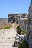 The walls of Methoni Castle Stock Photography