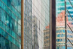 Glass walls modern skyscrapers. background Royalty Free Stock Photo
