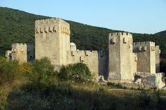Walls of monastery. Manasija near Despotovats, Serbia Royalty Free Stock Photos