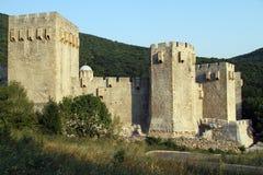 Walls of monastery. Manasija near Despotovats, serbia Royalty Free Stock Images