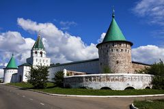 The walls of the monastery in Kostroma, Russia Stock Image