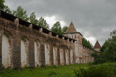 The walls of the monastery Stock Image