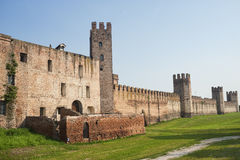 The walls of Montagnana (Padua, Italy) Stock Image
