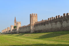 The walls of Montagnana (Padua, Italy) Royalty Free Stock Images