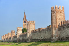 The walls of Montagnana (Padua, Italy) Royalty Free Stock Photo