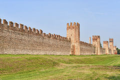 The walls of Montagnana (Padua, Italy) Stock Photo