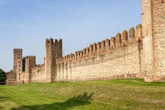 The walls of Montagnana (Padua, Italy) Royalty Free Stock Photos
