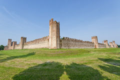 The walls of Montagnana (Padua, Italy) Royalty Free Stock Photography