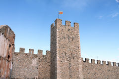 Walls in Montblanc, Tarragona,Catalonia, Spain Royalty Free Stock Photos
