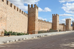 Walls in Montblanc, Tarragona,Catalonia, Spain Stock Images