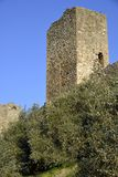 The walls of Monteriggioni Stock Photography