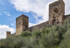 Walls of Monteriggioni. Italy Royalty Free Stock Photography