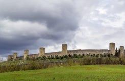 Walls of Monteriggioni. Italy Stock Photo