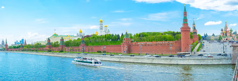 The walls of Moscow Kremlin Royalty Free Stock Images