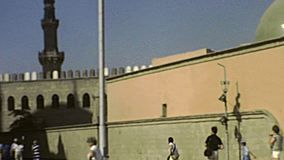 Walls of Mosque of Muhammad Ali archival stock video