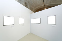 Walls in museum with frames Stock Photo