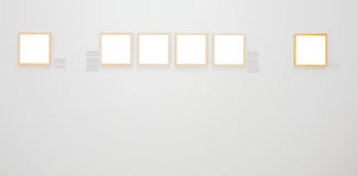 Walls in museum with frames Stock Image