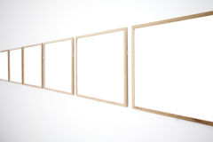 Walls in museum with frames Stock Photos