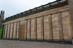 The walls of the National Museum in Edinburgh. From the side Stock Photography