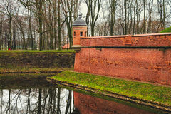 Walls of Nesvizh Castle in Belarus Royalty Free Stock Photos