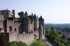 Walls Of Carcassonne Royalty Free Stock Images