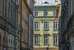 The walls of the old building. In the city of Lviv, Ukraine Stock Photo