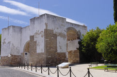 The walls of old city in Faro Stock Images