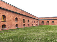 The walls of the old fortress Stock Photos