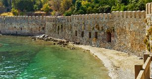 Walls of an old fortress Royalty Free Stock Image