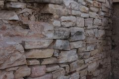 Walls of old stock photo