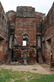 Walls of the old Palace Narai. Royalty Free Stock Photo