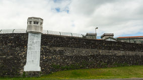 The walls of the old prison Ponta Delgada. Royalty Free Stock Photography