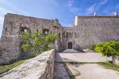 Budva Old Town. Walls of Old Town citadel of Budva coastal town, Montenegro Royalty Free Stock Photos