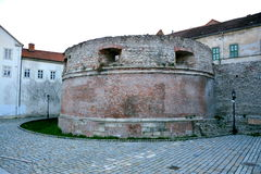 Walls of the old town in Sopron, Hungary. When the area that is today Western Hungary was a province of the Roman Empire, a city called Scarbantia stood here Royalty Free Stock Photos