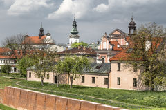 Walls of the old town in Zamosc Royalty Free Stock Photo