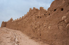 Walls of Old At-Turaif district near Ad Diriyah, Saudi Arabia Royalty Free Stock Photography