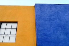 Walls of Orange and Blue Stock Images