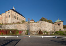 Walls of Oslo Akershus Fortress at late autumn Stock Photos