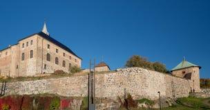 Walls of Oslo Akershus Fortress at late fall Royalty Free Stock Images