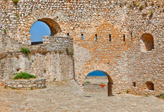 Walls of Palamidi fortress Royalty Free Stock Images