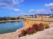 Walls of Palma of Majorca Stock Photography
