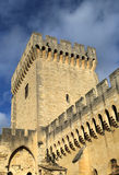 The walls of Papal Palace in Avignon, France Stock Photo