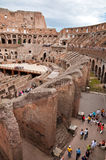 Walls and passages inside colosseum at Rome Stock Images